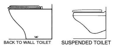 Back to Wall & Suspended Toilet Pans